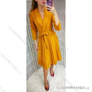 Šaty dlouhý rukáv dámská (uni s-l) ITALSKá MóDA IM2189562