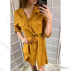 Šaty košilové 3/4 dlouhý rukáv dámské (uni s-l) ITALSKá MóDA IMC181128