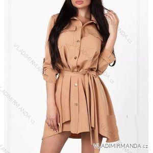 3715a85465b Šaty košeľové 3 4 dlhý rukáv dámske saténové (uni sl) TALIANSKÁ MÓDA  IM21887285