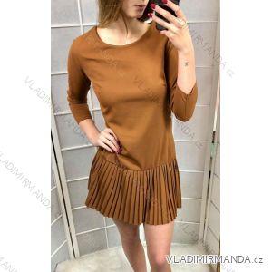 Šaty elegantní dlouhý rukáv  dámské (uni s-l) ITALSKá MóDA IMT189596