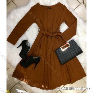 Šaty dlouhý rukáv dámská (uni s-l) ITALSKá MóDA IM2189543
