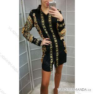 Šaty košilové dlouhý rukáv dámské (uni s-l) ITALSKÁ MÓDA IMT19056