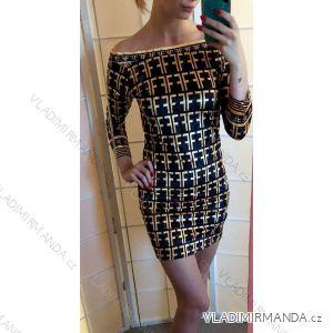 Šaty elegantní společenké dámské (s-l) ITALSKá MÓDA IMT19014