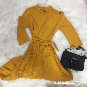 Šaty dlouhý rukáv dámská (uni s-l) ITALSKá MóDA IM2189548