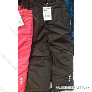 Kalhoty zimní zateplené nepromokavé lyžařské dětské dívčí a chlapecké (110-140)  B305B