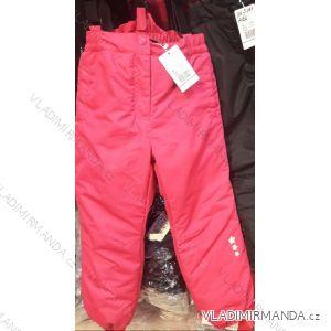 Kalhoty zimní zateplené nepromokavé lyžařské dětské dívčí a chlapecké (110-140) B303B