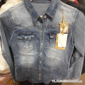 Košile riflová dlouhý rukáv dámská (xs-xl) ITALSKá MóDA IM919WL720