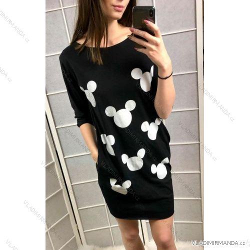 Šaty 3 4 rukáv dámské Mouse (uni s-l) ITALSKá MóDA IMC19111 ... 89211f4c89a