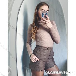 Rolák tričko dlouhý rukáv řádkový bavlněný dámský neon (uni s-l) ITALSKá MóDA AF19050