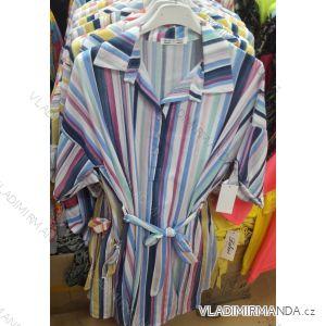 Šaty košilové hrubé 3/4 dlouhý rukáv dámské (uni s-l) ITALSKá MóDA IMC19215