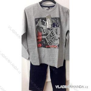 Pyžamo dlouhé dorostenecké chlapecké bavlněné (150-170) CALVI 16-442