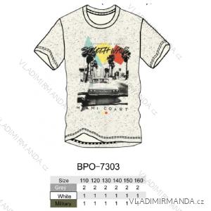 Tričko krátký rukáv dětské dorost chlapecké (110-160) GLO-STORY BPO-7303