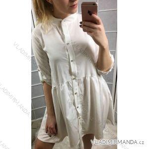 Šaty košilové 3/4 dlouhý rukáv dámské (uni s-l) ITALSKÁ MÓDA IMT19171