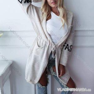 Cardigan pletený dlouhý rukáv dámský (uni s-l) ITALSKá MODA IMC18798