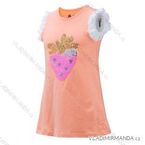 Tričko krátký rukáv s flitry měnící dětské dorost dívčí (104-134) WOLF S2923