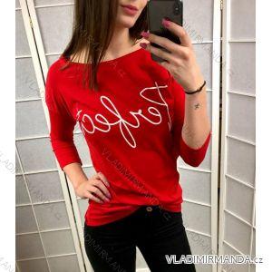 Tunika tričko  3/4 rukáv dámská (uni s-l) ITALSKá MóDA IMT184197
