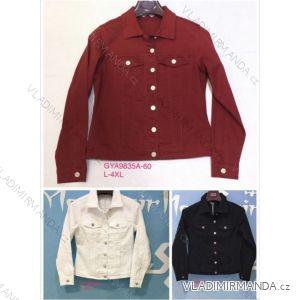 Bunda riflová jeans dámská (l-4xl) GOURD MA119GYA9835A-60