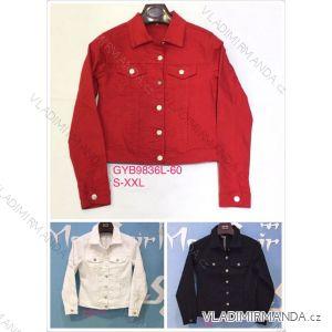 Bunda riflová jeans dámská (S-2xl) GOURD MA119GYB9836L-60