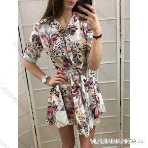 Šaty košilové 3/4 dlouhý rukáv dámské slabé (uni s-l) ITALSKá MóDA IM919218