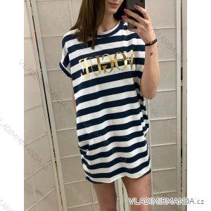 šaty tenké dámské vogue proužek (uni s-l) ITALSKá MóDA IM419315