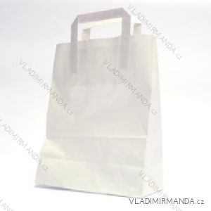 Papírová taška bílá kraft 32+22x24 50ks/balení