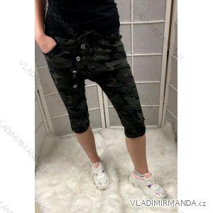 Kalhoty 3/4 s knoflíčky dámské (uni s-l) ITALSKá MODA IMC19270