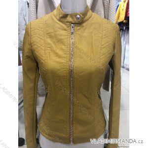Bunda dlouhý rukáv kožená dámská (s-2xl) MISS SISSY MA119022