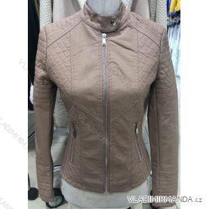Bunda dlouhý rukáv kožená dámská (s-2xl) MISS SISSY MA119023