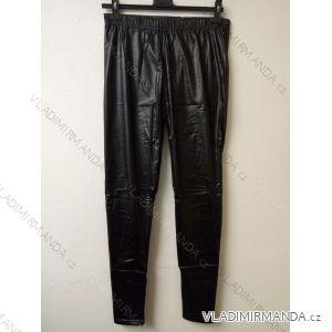 Legíny kalhoty koženkové dlouhé dámské (m-2xl) ELEVEK PP921