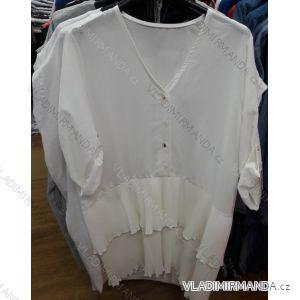 Šaty košilové 3/4 dlouhý rukáv dámské (uni m/l) ITALSKá MóDA IMT19300