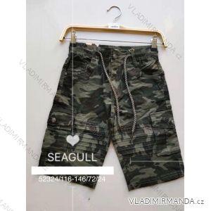 Kalhoty 3/4 dětské dorost chlapecké maskáč (116-146) SEAGULL SEA1952324