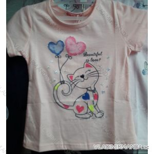 Tričko krátký rukáv dětské dívčí (98-128) GLASS BEAR ACT198P-7288
