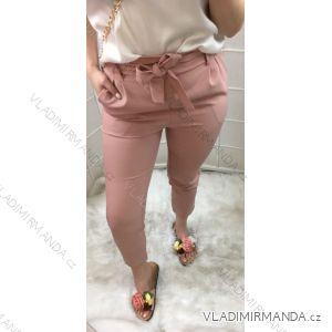 Kalhoty dlouhé elegantní s páskem dámské  (s-xl) ITALSKá MODA IM719051