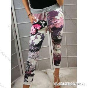 Kalhoty květy dámské (uni xs/s) ITALSKá MODA IMC19370