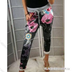 Kalhoty květy dámské (uni xs/s) ITALSKá MODA IMC19371