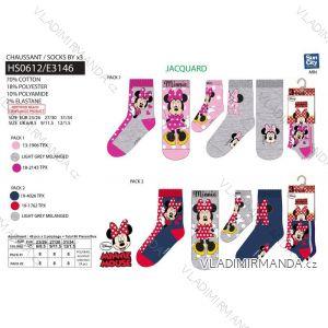 Ponožky 3ks minnie mouse dětské a dorost dívčí (23-34) SUN CITY HS0612