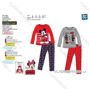 Pyžamo dlouhé minnie mouse dětské dívčí bavlněné (3-8 let) SUN CITY HS2088