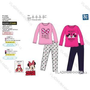 Pyžamo dlouhé minnie mouse dětské dívčí bavlněné (3-8 let) SUN CITY HS2091