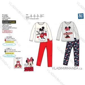 Pyžamo dlouhé minnie mouse dětské dívčí bavlněné (3-8 let) SUN CITY HS2087