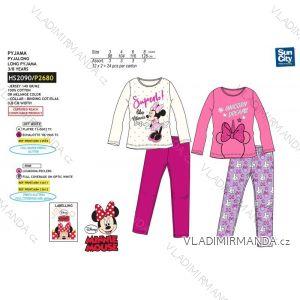 Pyžamo dlouhé minnie mouse dětské dívčí bavlněné (3-8 let) SUN CITY HS2090