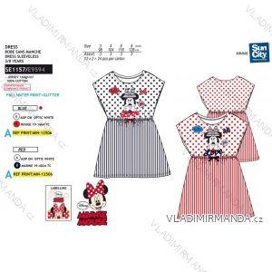 Šaty krátký rukáv minnie mouse dětské dívčí (3-8 let) SUN CITY SE1157