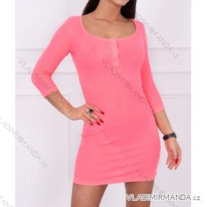 Šaty dlouhý rukáv dámské (one size) TURECKO ESI198975