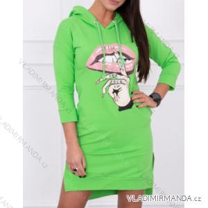 Šaty mikinové s kapucí dlouhý rukáv dámské (one size) TURECKO ESI1964632
