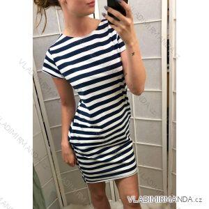 Šaty krátký rukáv dlouhé letní proužek dámské (uni s/m)  ITALSKá MODA IM718227