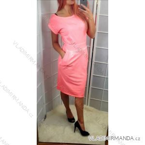 Šaty  bez rukávů neon letní  dámské (uni s-l) ITALSKá MóDA IMC19569
