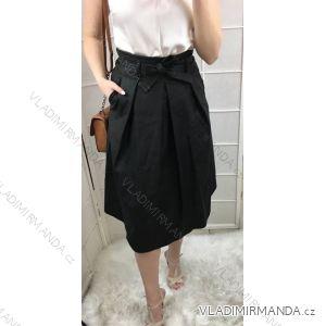 Sukně elegantní dlouhá koženka dámská (s-l) ITALSKá MóDA IM319100