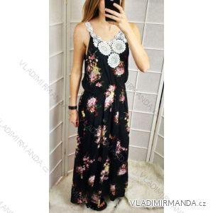 Šaty dlouhé letní bez rukávů květované dámské (uni s-l) ITALSKá MODA IMT183597