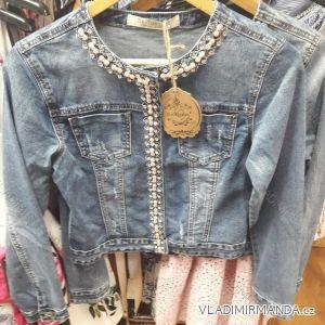Bunda riflová krátká dámská perličky (xs-xl) Re-dress IM919C103