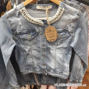 Bunda riflová krátká dámská perličky (xs-xl) Re-dress IM919C013