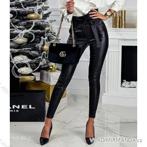Kalhoty koženkové s vysokým pasem dámské (s-l) SOISOU AF19099